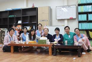 권지용 원장님이 병원에서 맞는 첫번째 생일