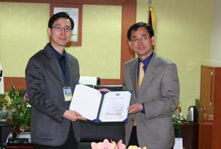 안산초등학교 기부금 전달